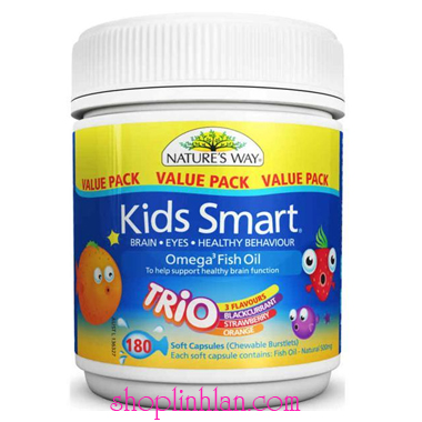 Kids Smart Omega 3 Fish Oil Trio - 180 viên