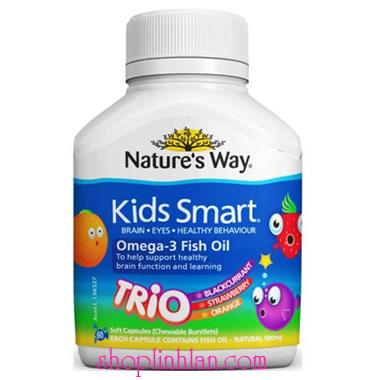 Kids Smart Omega 3 Fish Oil Trio - 60 viên